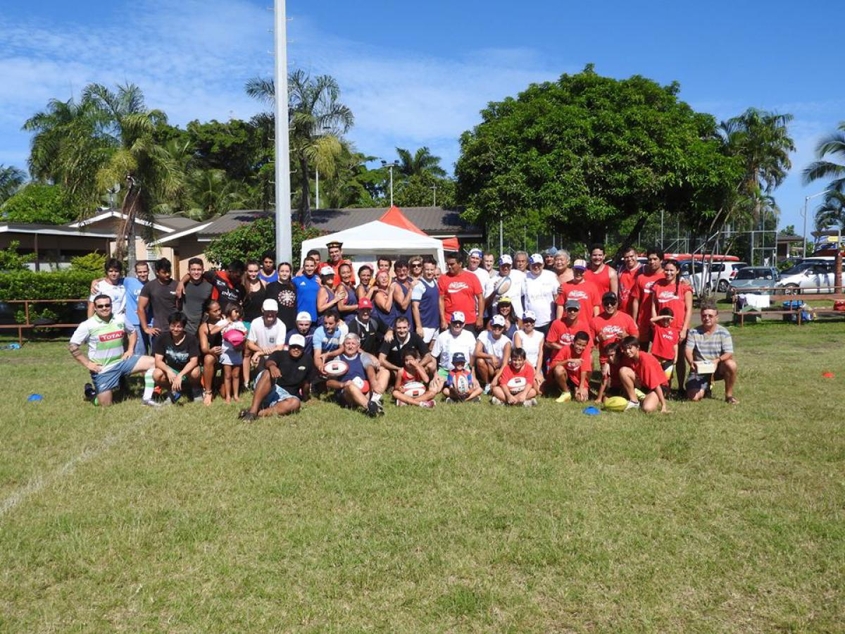 Photo de groupe - touch rugby ASLVP